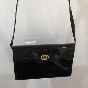 Patent Leather Vintage Gucci bag.